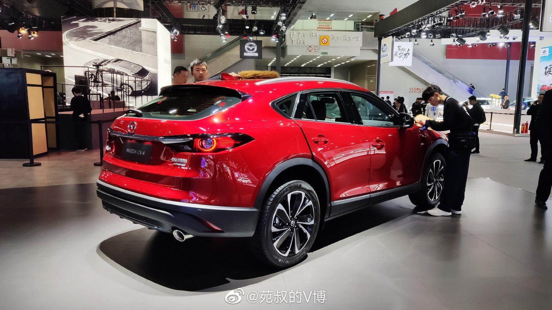 马自达展台,新款CX-4,新款马自达6个全新马自达3。