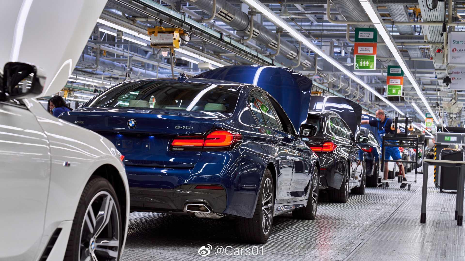 宝马全新4系和改款5系在丁格尔芬工厂投产。
