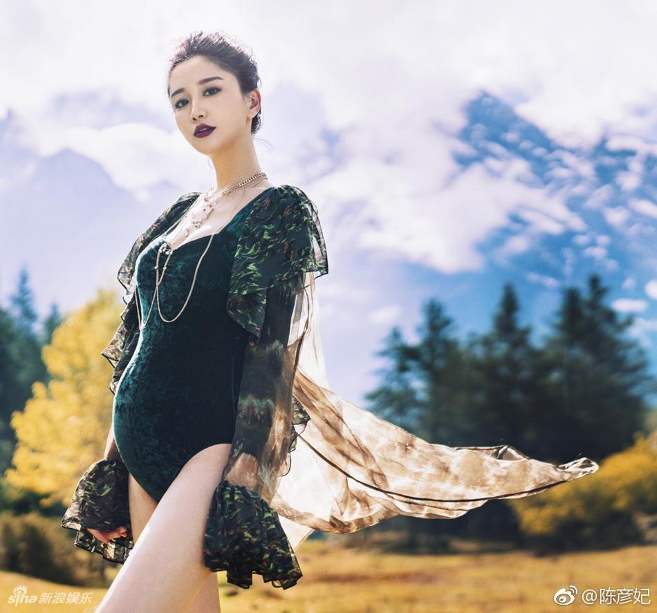 《星梦缘》主演陈彦妃拍孕照 甜蜜搞怪恩爱有加_北京时间