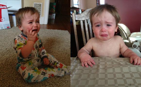 国外一奶爸热衷晒儿子日常哭泣照