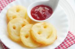 秒殺小朋友的美味小點心--笑臉土豆餅(圖)