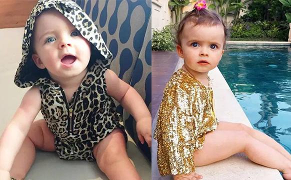 两岁宝宝开始各种走秀代言