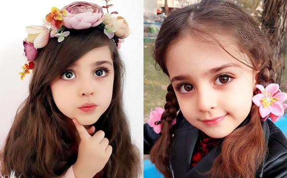 来自伊朗的小姑娘Mahdis 五官好精致