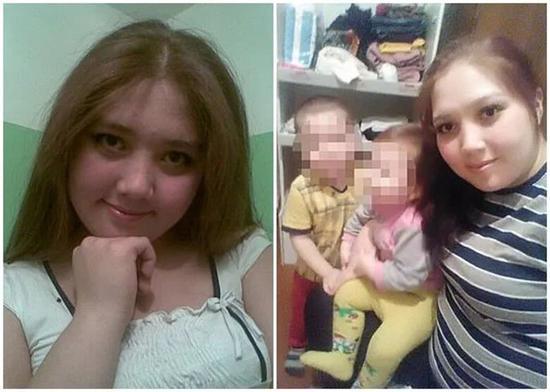图说:23岁的年轻母亲巴诺科