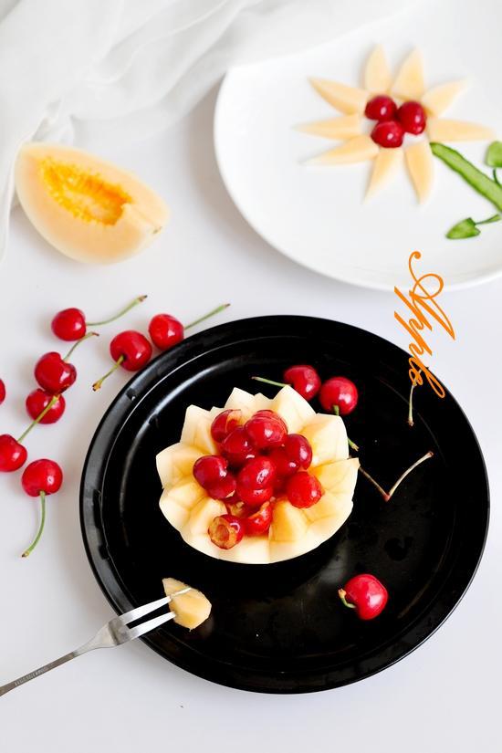 甜瓜水果拼盘