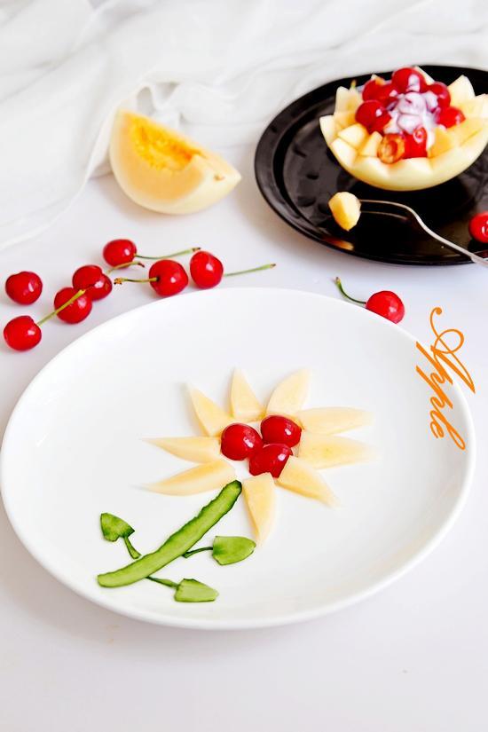 两种方法吃甜瓜--做个简单的甜瓜水果拼盘(图)图片