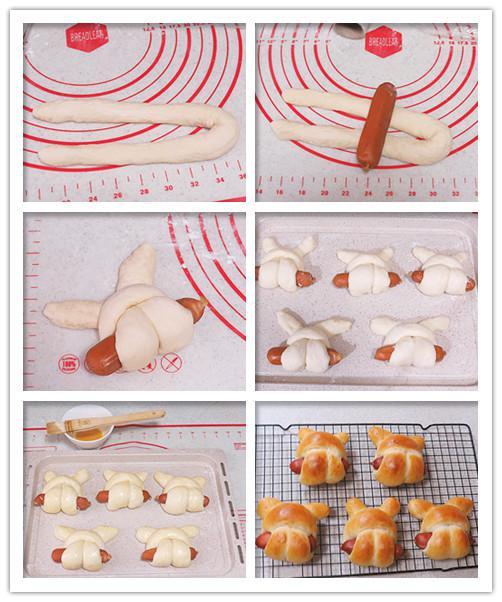 小兔子热狗面包步骤7-1
