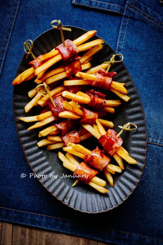 薯条培根卷
