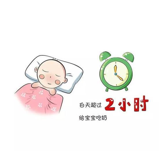 白天超过2小时给宝宝吃奶