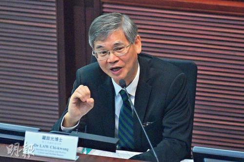 香港劳工及福利局长罗致光。图片来源:香港《明报》/杨柏贤 摄