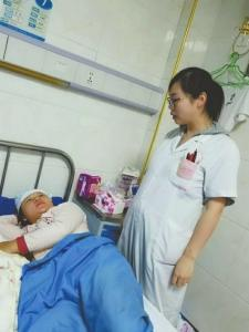 游珊怀孕后,仍主动申请上夜班。