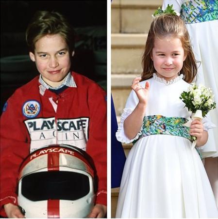 威廉童年照(左)、夏洛特公主(右)