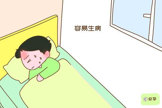 经常晚睡,会降低免疫力和抵抗力,导致孩子容易生病