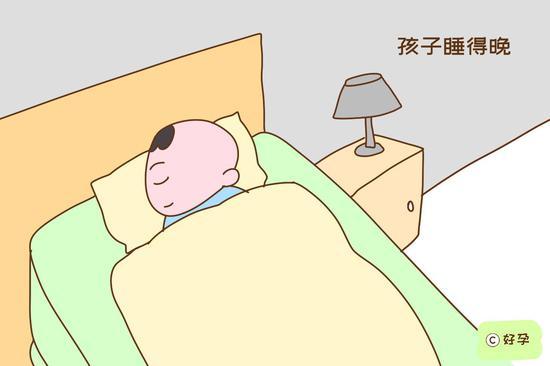 孩子睡得晚,容易焦虑躁动,对心脏产生压力