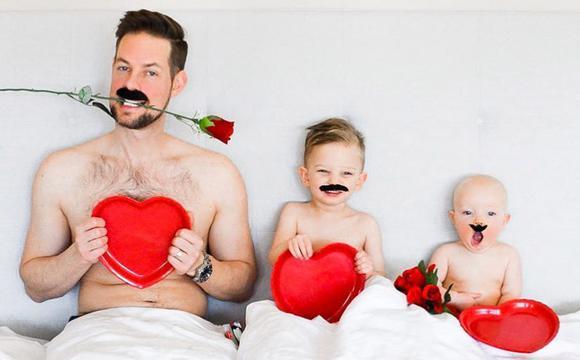搞笑一家人 充满创意的家庭照