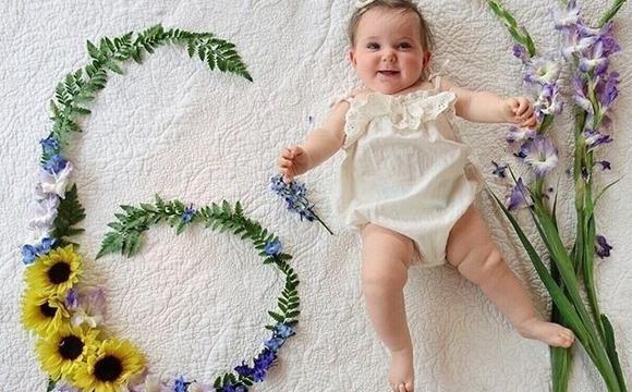 用鲜花记录宝宝成长