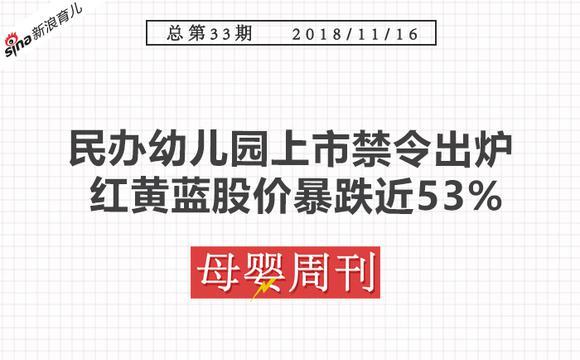 周刊:民办幼儿园上市禁令出炉 红黄蓝股价暴跌