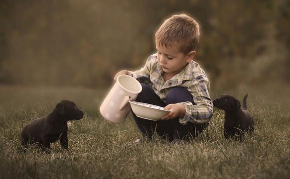 清新唯美的童年生活