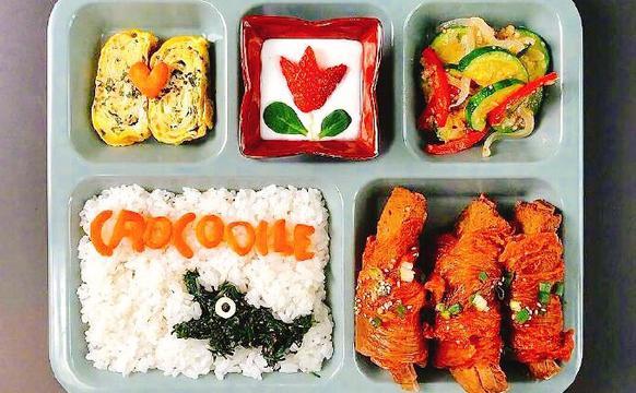 韩国妈妈为孩子做的卡通图案美食