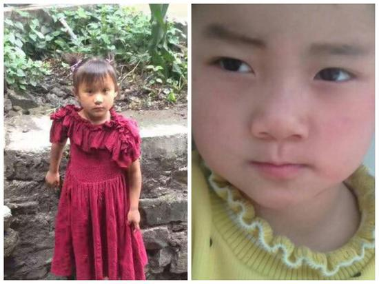 李慧晴,女,7岁(左)李艳梅,女,5岁(右)