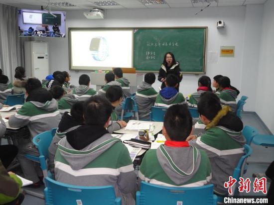 学校开展国家安全课堂教学。(资料图)南京市教学研究室供图