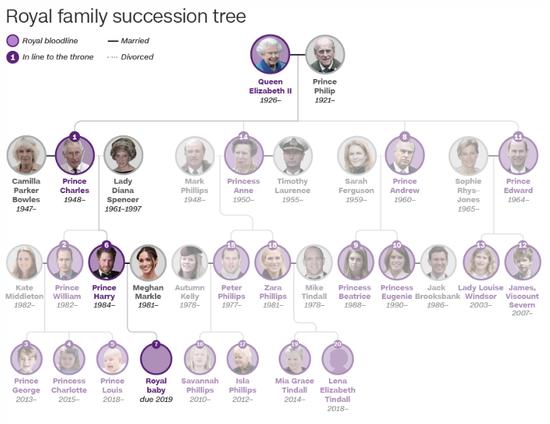 英王室继承人列表(CNN)