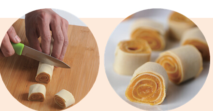 2岁幼儿食谱:豆腐皮红薯卷