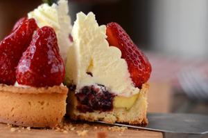 春天总是和草莓联系起来--雪顶草莓塔(图)