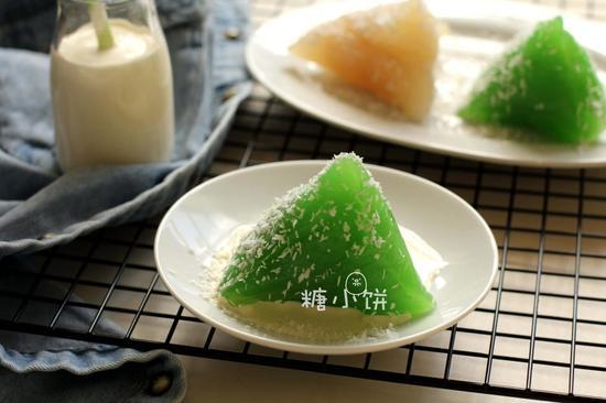 椰浆班兰水晶粽