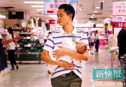 昨日是父亲节,商场促销并不明显。