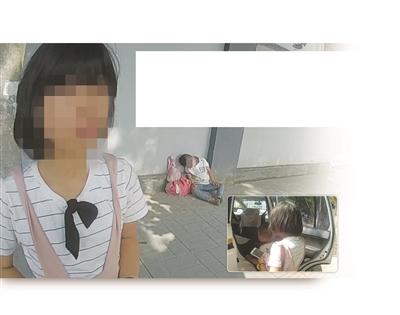大图:民警找到姐弟俩发现他们蜷缩在街头。小图:民警将流浪街头的姐弟俩带回派出所。
