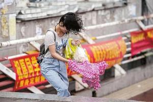 """台风""""狮子山""""来袭 吉林多地中小学停课"""