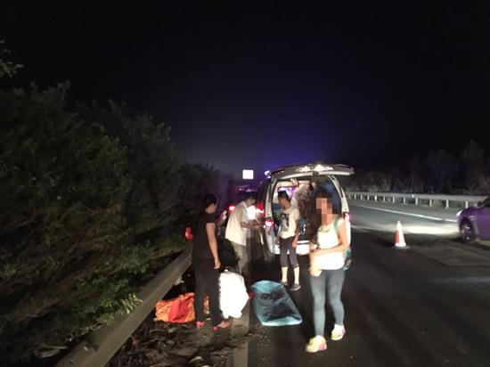 事故现场 图片由警方提供