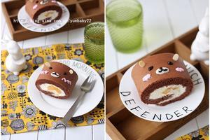 受小朋友喜欢的萌萌熊可可蛋糕卷(图)