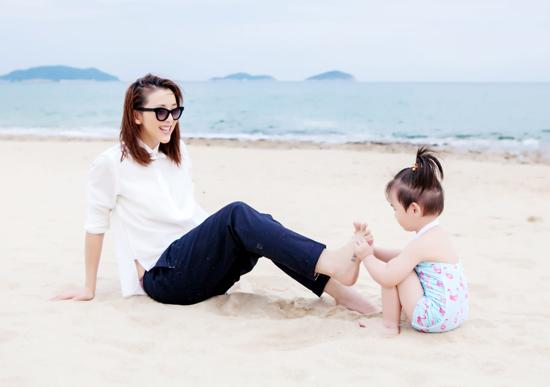 黄小蕾与女儿