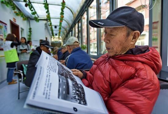 资料图:中国老年人。新华社记者 李欣 摄