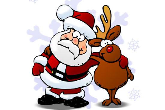 圣诞老人和鲁道夫