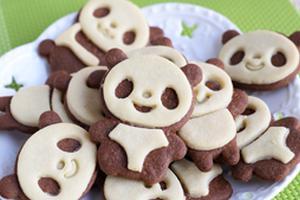 可爱也美味的小熊猫饼干(图)