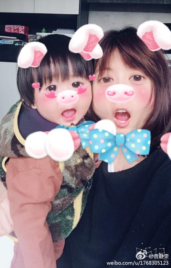 贾静雯和小女儿