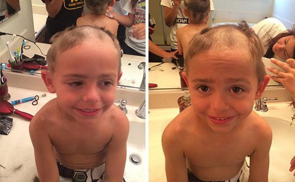 当小朋友们剪头发 灾难开始了