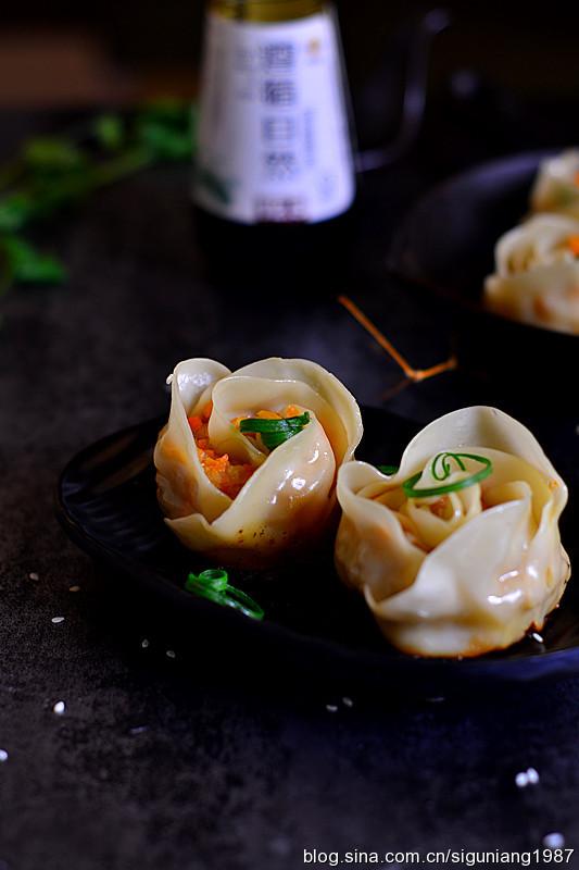 变着花样包饺子--玫瑰花形饺子(图)