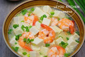 连汤都特别好喝--虾仁烩豆腐(图)