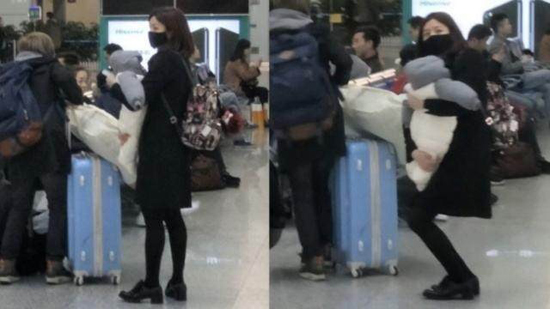 陈妍希抱儿子