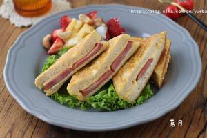 快手制作营养早餐火腿芝士西多士(图)