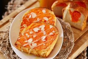 咸甜口味正火红--浓郁蛋奶香金沙吐司(图)