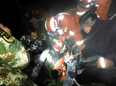 小女孩被救起 渝北警方供图