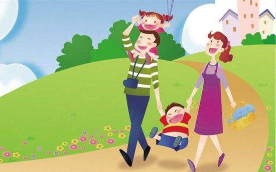 二孩家庭出游