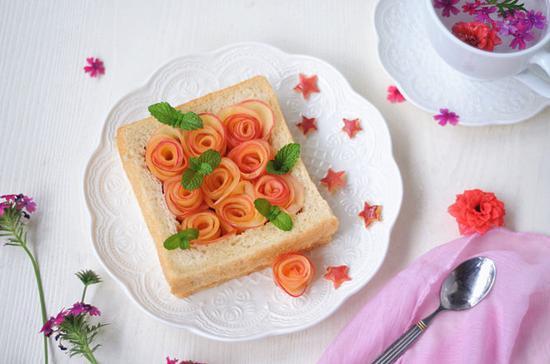 苹果玫瑰土司卷