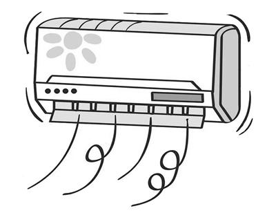 空调手绘效果图