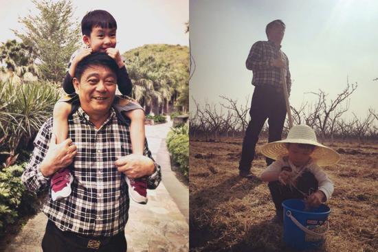 姚晨在微博祝爸爸节日快乐